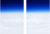 On the Clouds  #6721 #6724, 2009, C-Print, 167x117cm each