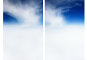 On the Clouds #5886 #5891, 2005, C-Print, 105x70cm each