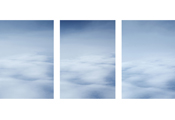 On the Clouds #300 #304 #308, 2006, C-Print, 100x70cm each