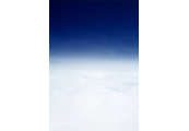 On the Clouds  #8, 1997, C-Print,  87.5x57.5cm/ 171.5x115cm